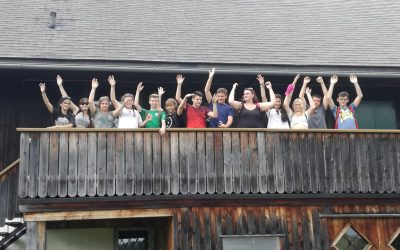 Abschluss in der Hütte